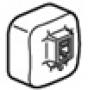 LEGRAND QUTEO Розетка компьютер UTP (RJ45) накладная крем 782254