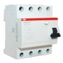 УЗО ABB Выкл. диф. тока 4мод. F204 AC-63/0,1