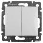Выключатель 2 кл. проходной, Legrand Valena, белый 774408